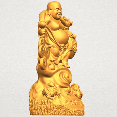 TDA0329 Metteyya Buddha 09 A07.png Télécharger fichier STL gratuit Bouddha Metteyya 09 • Modèle imprimable en 3D, GeorgesNikkei