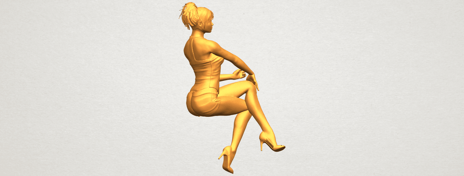 A01.png Download free STL file Naked Girl H05 • 3D printable object, GeorgesNikkei