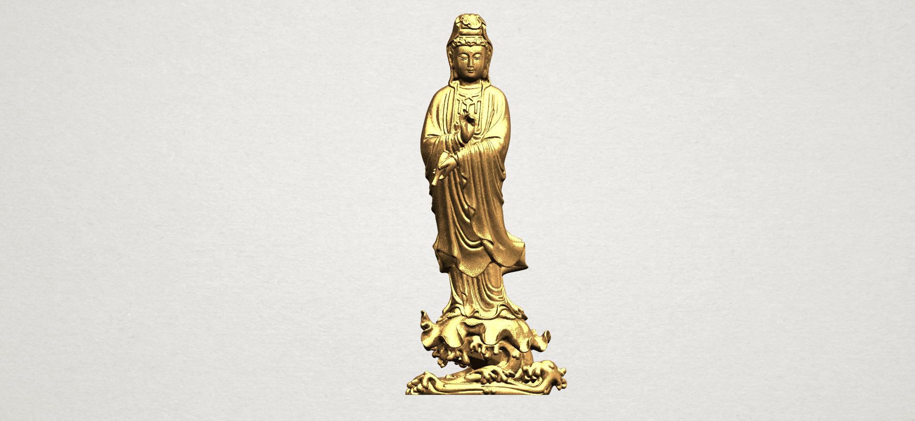 Avalokitesvara Buddha - Standing (v) A01.png Download free STL file Avalokitesvara Buddha - Standing 05 • 3D printer template, GeorgesNikkei