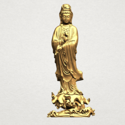 Free 3D printer designs Avalokitesvara Buddha - Standing 05, GeorgesNikkei