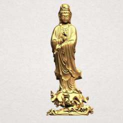 Avalokitesvara Buddha - Standing (v) A01.png Télécharger fichier STL gratuit Bouddha Avalokitesvara - Debout 05 • Plan pour imprimante 3D, GeorgesNikkei