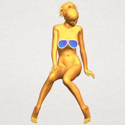 A01 - Copy.png Download free STL file Naked Girl E01 • 3D printer template, GeorgesNikkei