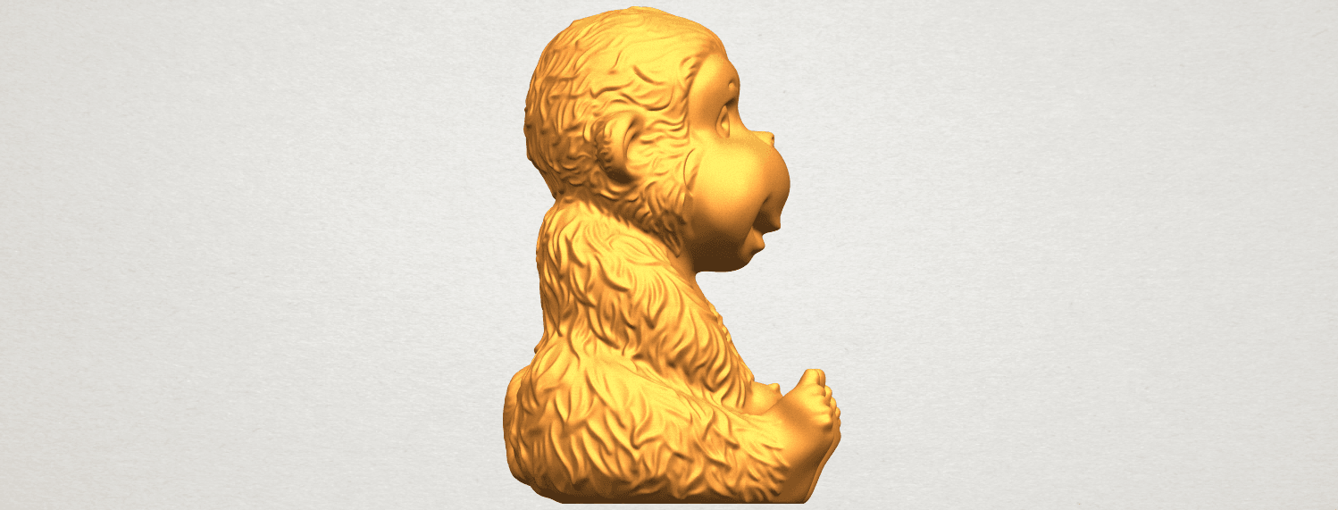 A09.png Download free STL file Monkey A01 • 3D printer model, GeorgesNikkei