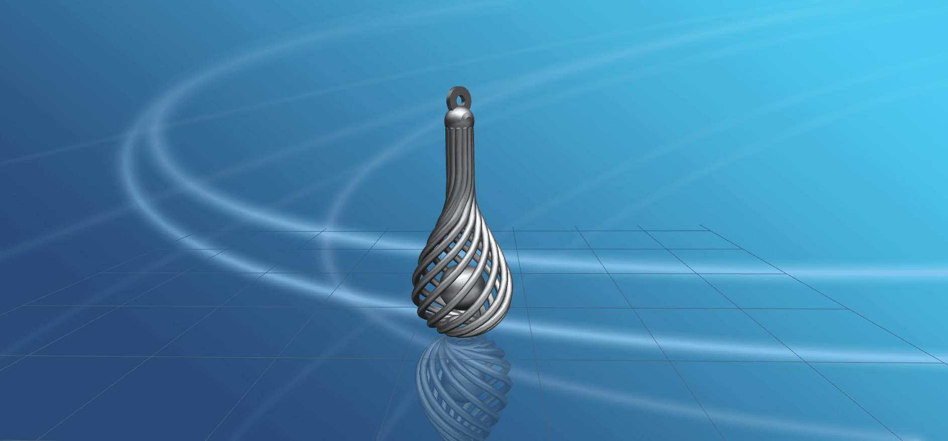 Necklace - Twisted Vase-01.png Download free STL file Necklaces - Twisted Vase • 3D print design, GeorgesNikkei