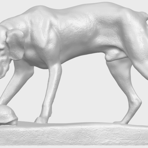 11_Dog_i_62mmA06.png Télécharger fichier STL gratuit Chien 01 • Plan pour impression 3D, GeorgesNikkei