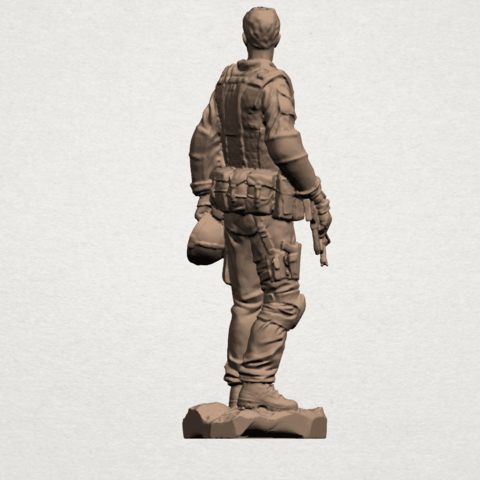 American Soldier A05.png Download free STL file American Soldier • Template to 3D print, GeorgesNikkei