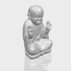 Free 3d model Little Monk 05, GeorgesNikkei