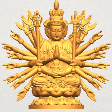 stl Avalokitesvara Bodhisattva (multi hand) 04, Miketon