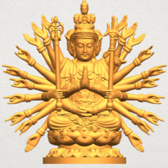 Download free 3D printer templates Avalokitesvara Bodhisattva (multi hand) 04, GeorgesNikkei