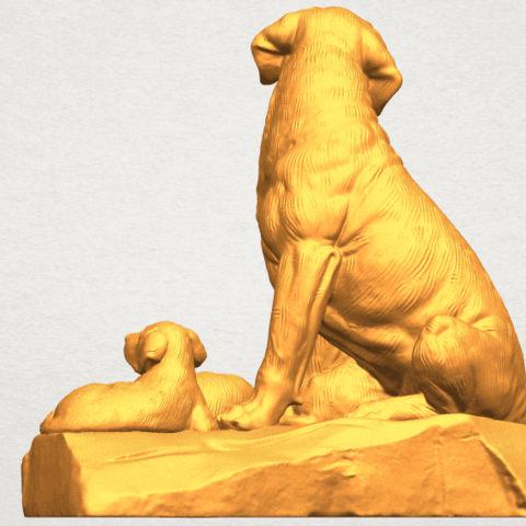 A03.png Download free STL file Dog and Puppy 02 • 3D print design, GeorgesNikkei