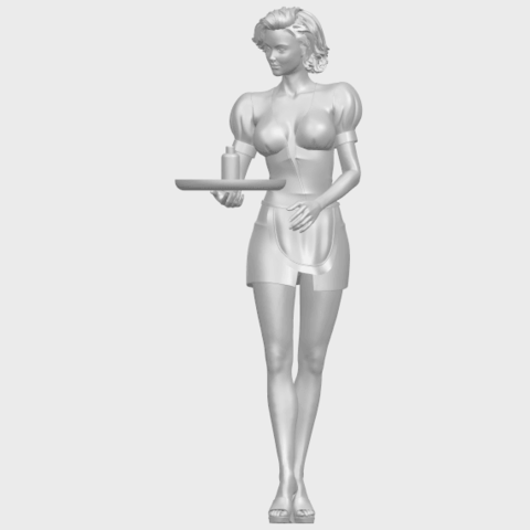 07_TDA0475_Beautiful_Girl_09_WaitressA02.png Download free STL file Beautiful Girl 09 Waitress • 3D printable object, GeorgesNikkei