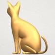 TDA0576 Cat 01 A04.png Télécharger fichier STL gratuit Chat 01 • Modèle pour imprimante 3D, GeorgesNikkei