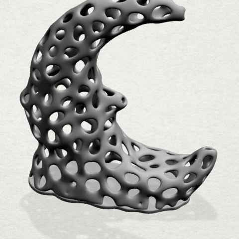 Voronoi Moon - A02 - 000.png Download free STL file Voronoi Moon • Design to 3D print, GeorgesNikkei