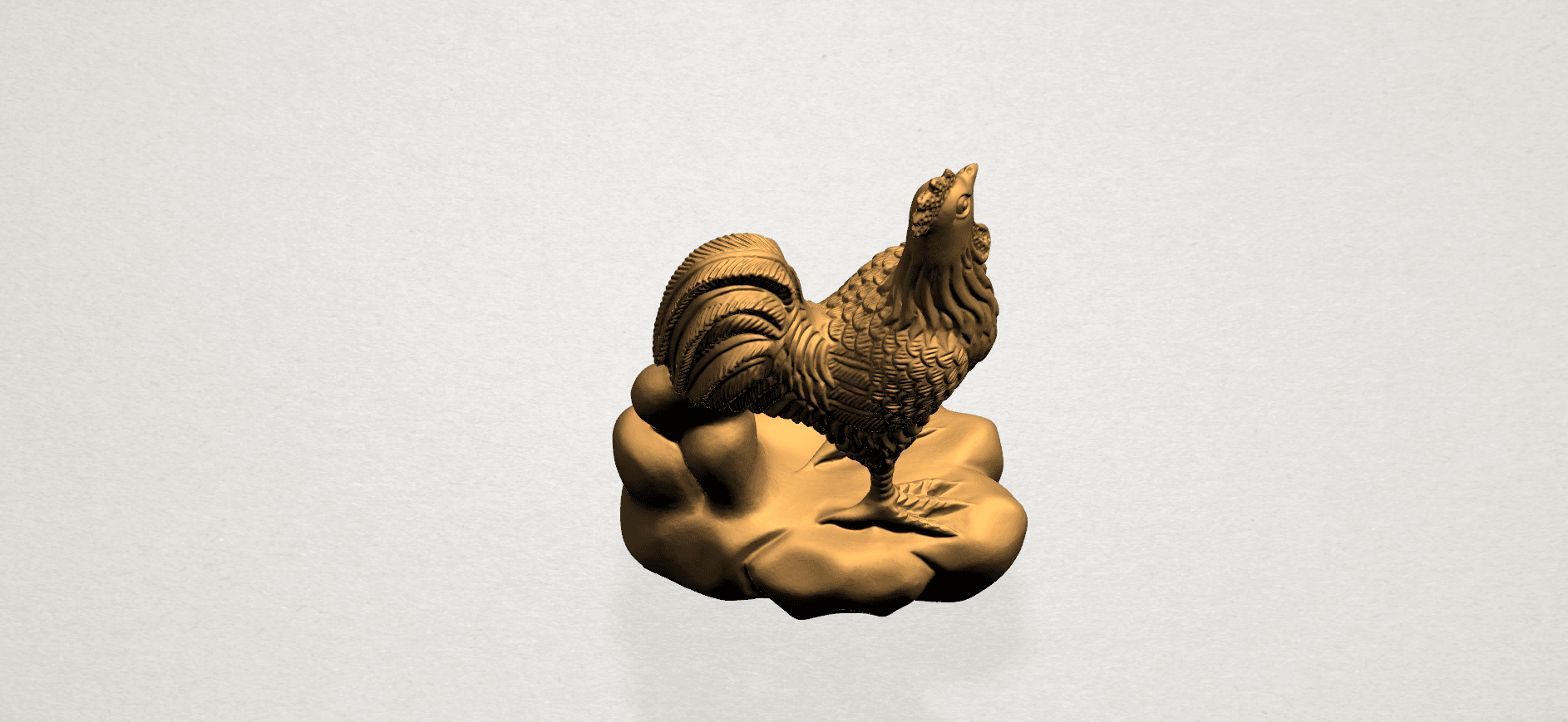 TDA0051j Chinese Horoscope10-A03.png Download free STL file Chinese Horoscope 10 Chicken - TOP MODEL • 3D printable design, GeorgesNikkei