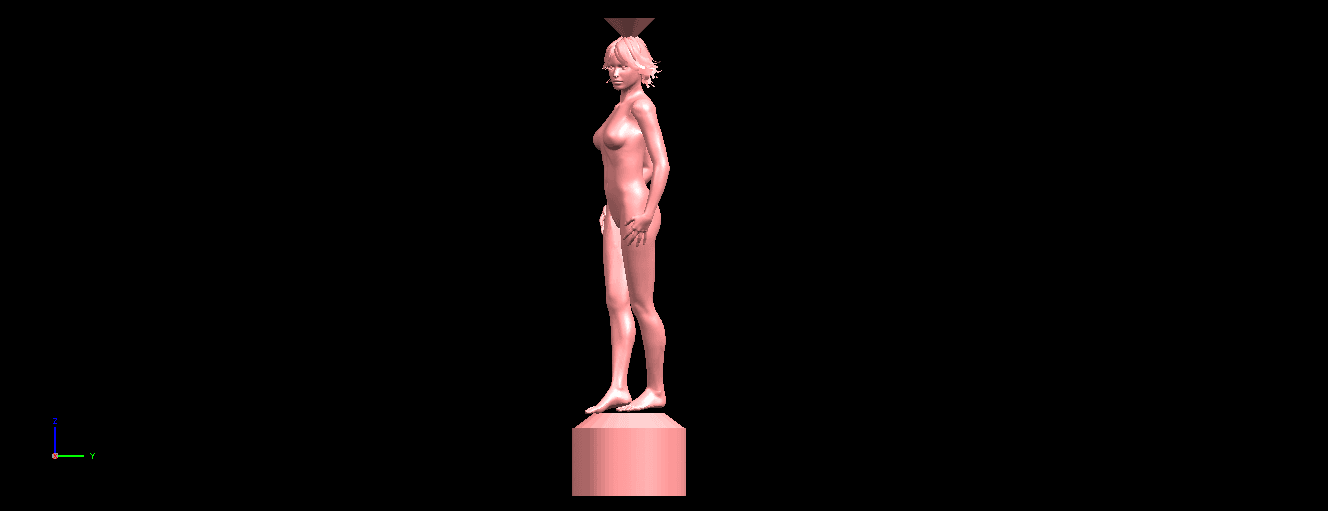 01.png Download free STL file Naked Girl with Vase on Top (i) • 3D print template, GeorgesNikkei