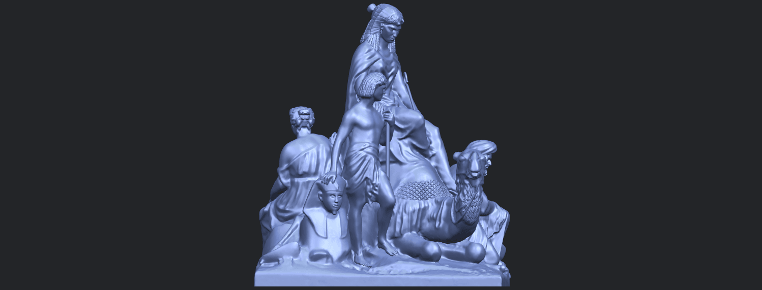 16_TDA0255_Villagers_and_CamelB09.png Download free STL file Villagers and Camel • 3D print template, GeorgesNikkei