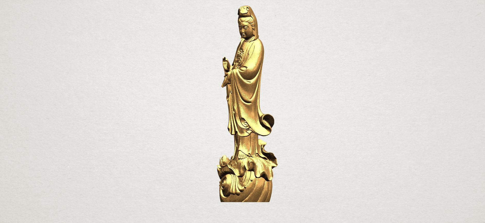 Avalokitesvara Buddha - Standing (i) A02.png Download free STL file Avalokitesvara Bodhisattva - Standing 01 • 3D printable design, GeorgesNikkei