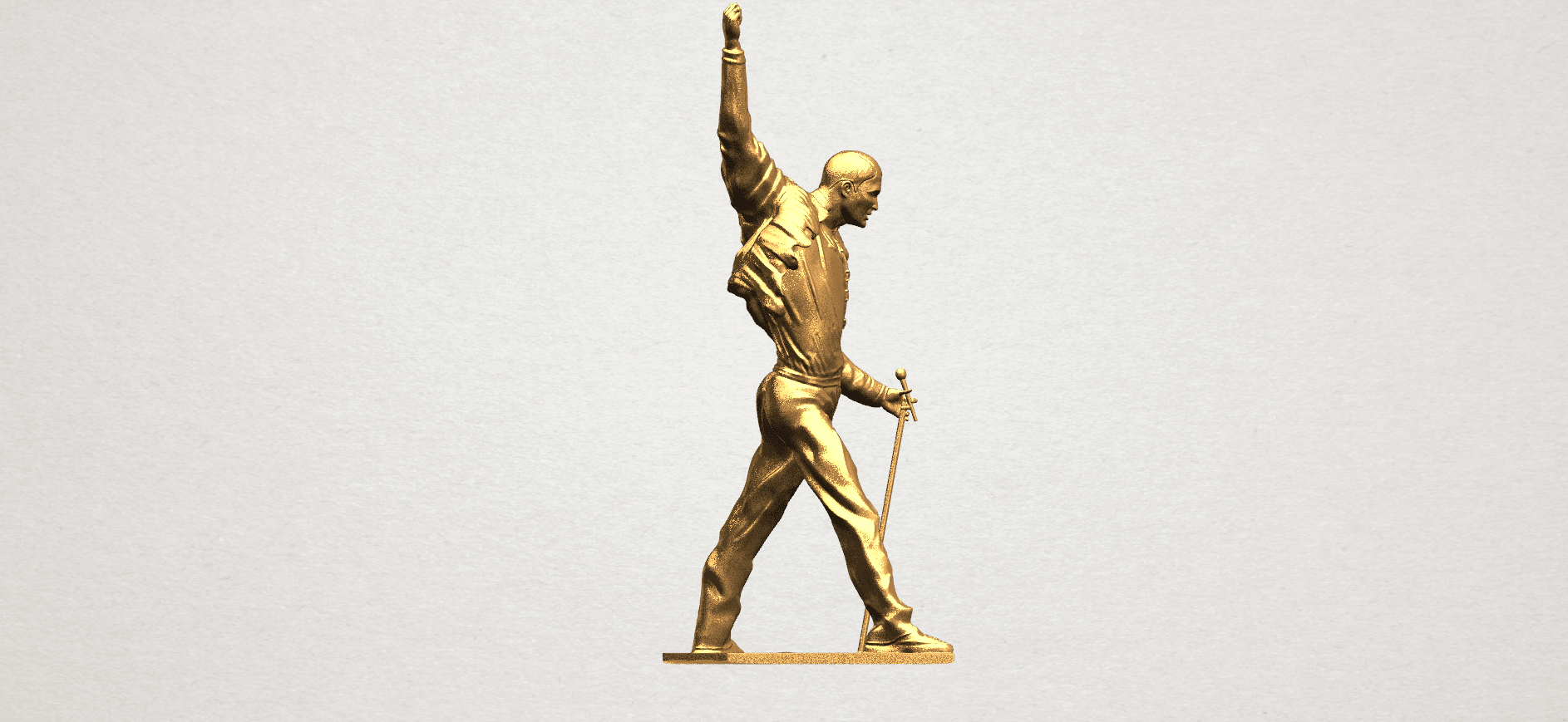 Statue of Freddie Mercury A07.png Download free STL file Statue of Freddie Mercury • 3D printable template, GeorgesNikkei
