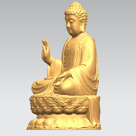 TDA0459 Gautama Buddha (iii) B02.png Download free STL file Gautama Buddha 03 • 3D printer template, GeorgesNikkei