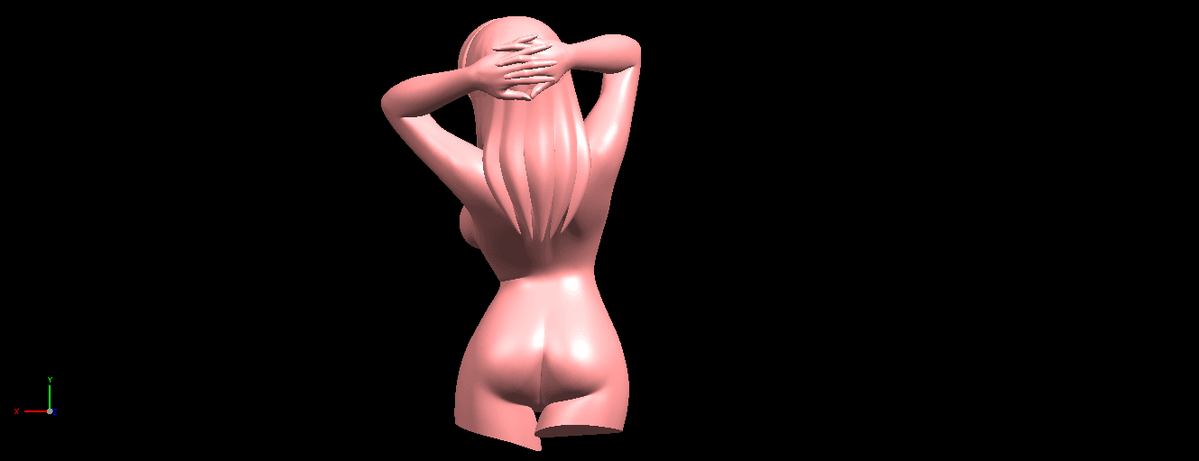 05.png Download free STL file Naked Girl 01- half body • 3D printing template, GeorgesNikkei