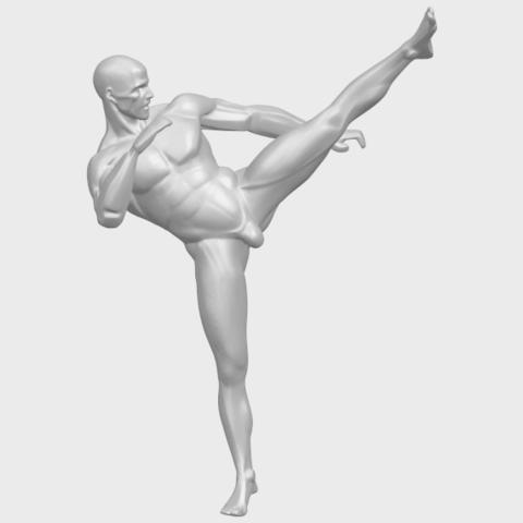 06_TDA0547_Man_KickingA01.png Télécharger fichier STL gratuit Man Kicking • Objet pour impression 3D, GeorgesNikkei