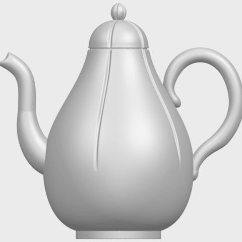19_TDA0323_Tea_Pot_iiA01.png Download free STL file Tea Pot 02 • 3D printer template, GeorgesNikkei