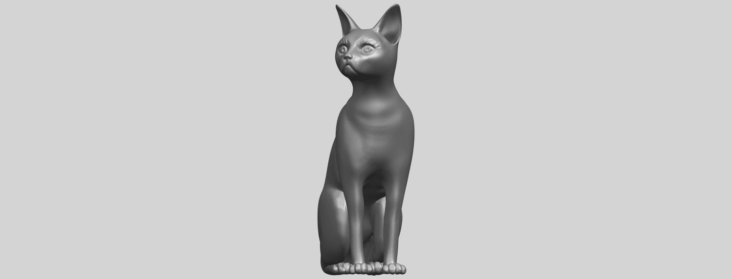 02_TDA0576_Cat_01A01.png Download free STL file Cat 01 • Design to 3D print, GeorgesNikkei