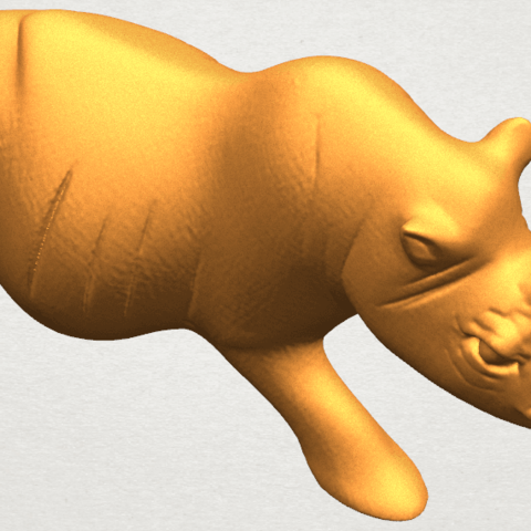 TDA0310 Rhinoceros (ii) A06.png Download free STL file Rhinoceros 02 • 3D printing model, GeorgesNikkei