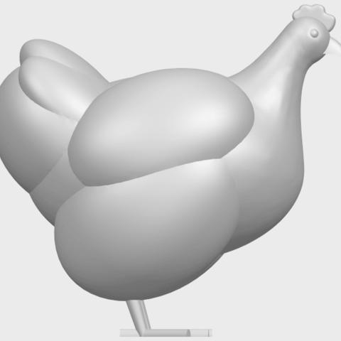 17_TDA0484_HenA09.png Télécharger fichier STL gratuit Poule • Design pour imprimante 3D, GeorgesNikkei