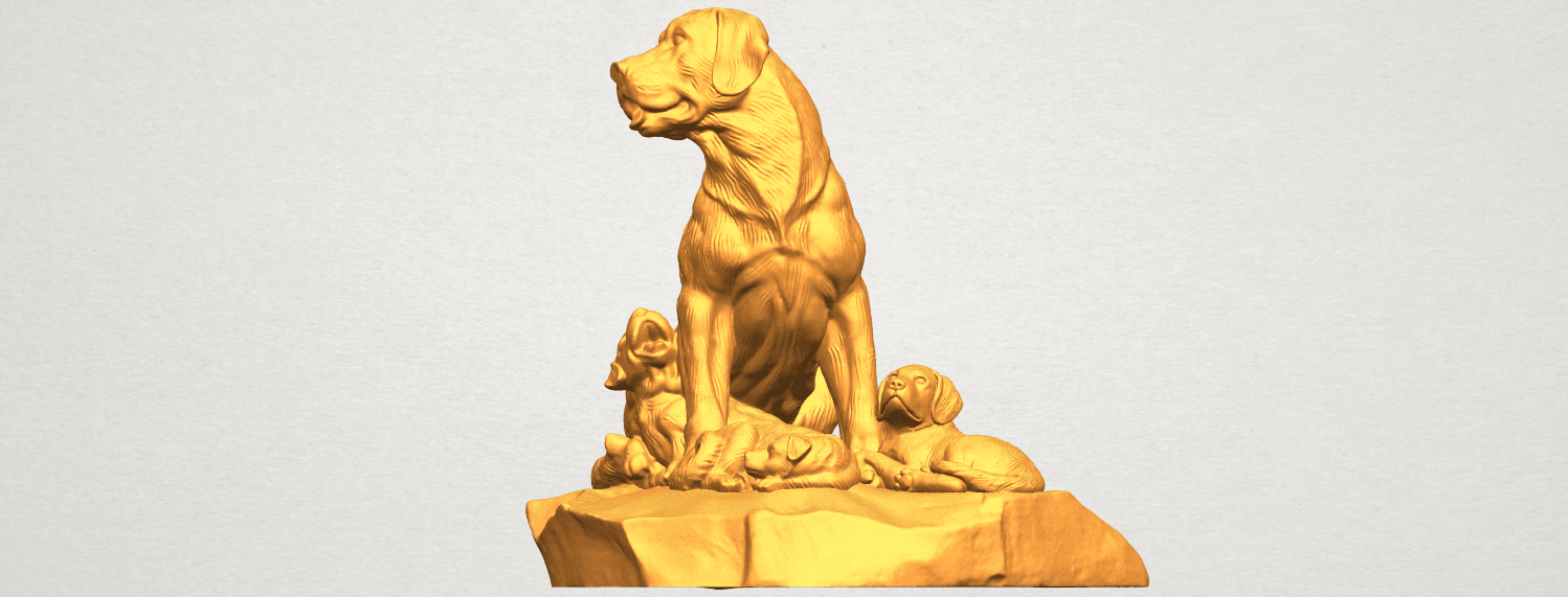 A10.png Download free STL file Dog and Puppy 02 • 3D print design, GeorgesNikkei