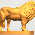 TDA0313 Lion (iii) A04.png Download free STL file Lion 03 • 3D printable template, GeorgesNikkei