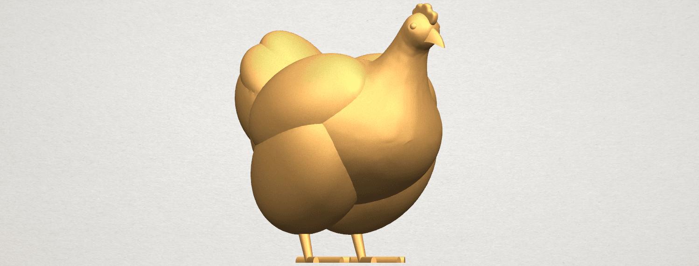 TDA0484 Hen A07.png Télécharger fichier STL gratuit Poule • Design pour imprimante 3D, GeorgesNikkei