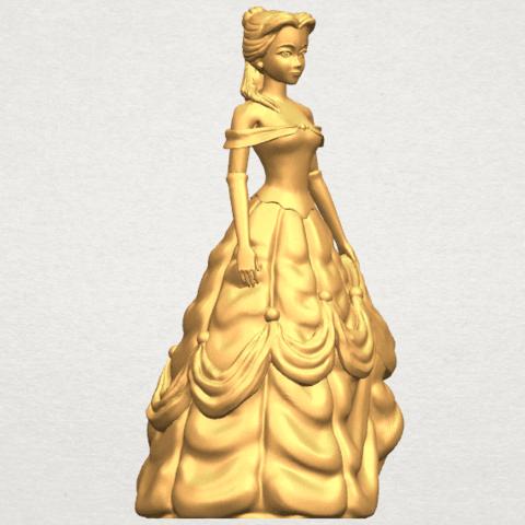 TDA0578 Princess Belle A08.png Télécharger fichier STL gratuit Princesse Belle • Modèle pour impression 3D, GeorgesNikkei