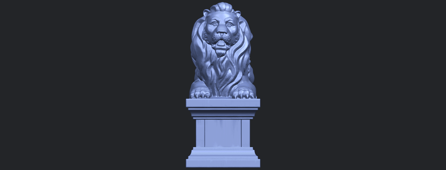 01_TDA0499_Lion_04B01.png Download free STL file Lion 04 • Template to 3D print, GeorgesNikkei
