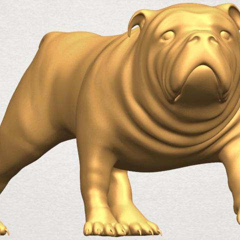 TDA0520 Bull Dog 01 A08.png Télécharger fichier STL gratuit Chien de taureau 01 • Plan pour impression 3D, GeorgesNikkei