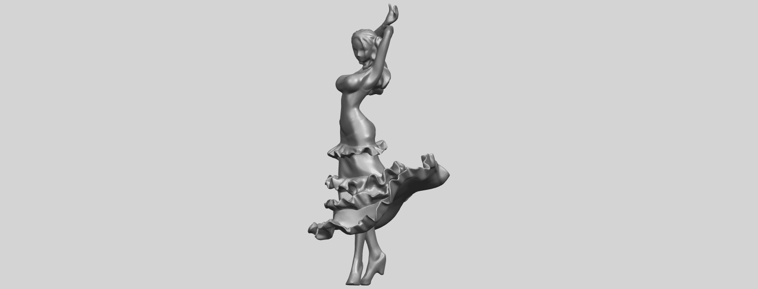 23_Girl_with_Dress_80mm-A06.png Download free STL file Girl with Dress • Object to 3D print, GeorgesNikkei