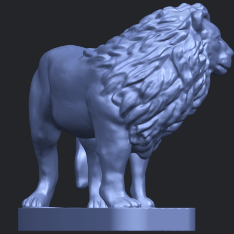 02_TDA0313_Lion_(iii)B08.png Download free STL file Lion 03 • 3D printable template, GeorgesNikkei