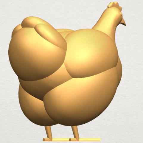 TDA0484 Hen A05.png Télécharger fichier STL gratuit Poule • Design pour imprimante 3D, GeorgesNikkei