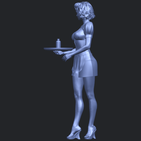 07_TDA0475_Beautiful_Girl_09_WaitressB04.png Download free STL file Beautiful Girl 09 Waitress • 3D printable object, GeorgesNikkei
