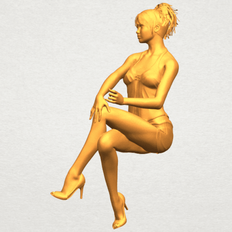 A06.png Download free STL file Naked Girl H05 • 3D printable object, GeorgesNikkei