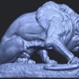 16_Lion_(iii)_with_snake_60mm-B07.png Télécharger fichier STL gratuit Lion 03 - avec serpent • Modèle imprimable en 3D, GeorgesNikkei