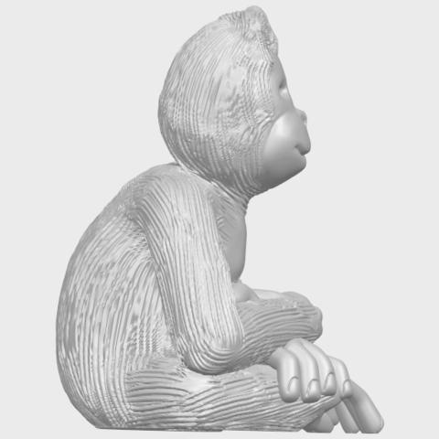 09_TDA0606_ChimpanzeeA09.png Télécharger fichier STL gratuit Chimpanzé • Design imprimable en 3D, GeorgesNikkei