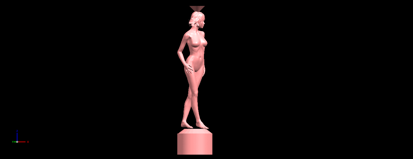 07.png Download free STL file Naked Girl with Vase on Top (i) • 3D print template, GeorgesNikkei