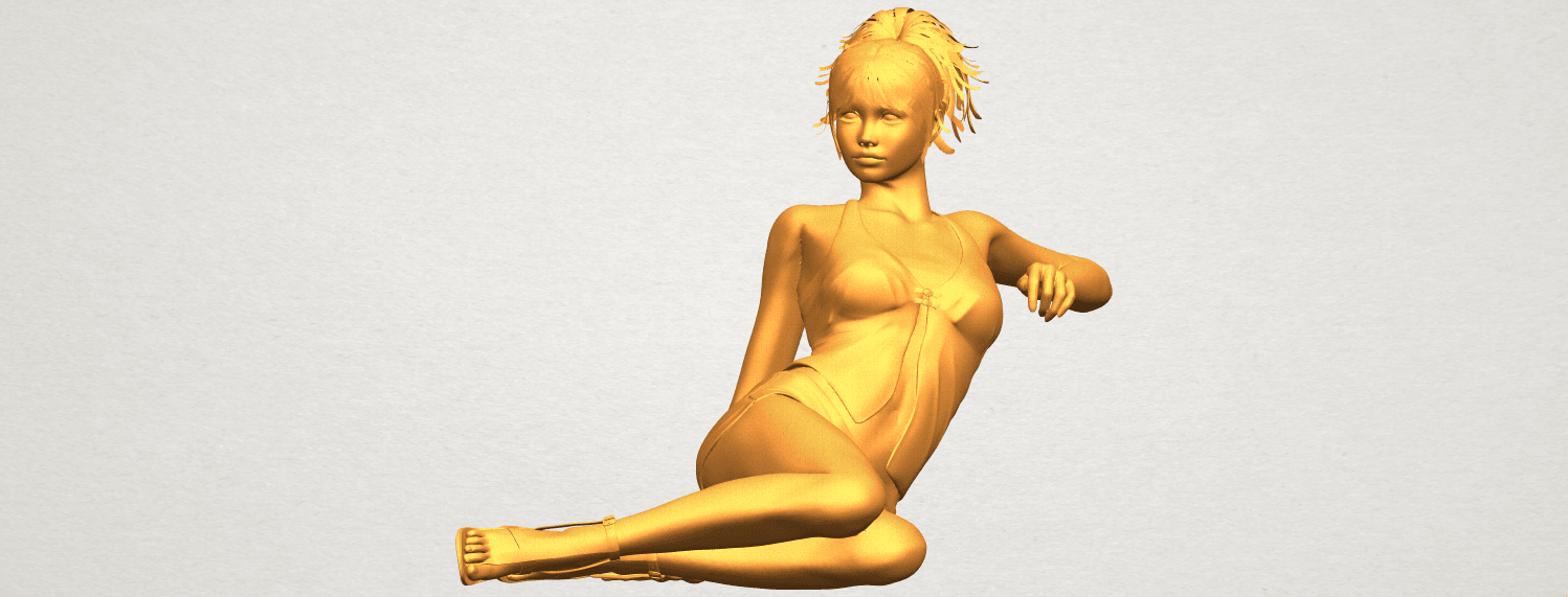 A01.png Download free STL file Naked Girl F08 • Object to 3D print, GeorgesNikkei