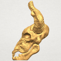 Free 3d printer files Skull of Goat 01, GeorgesNikkei