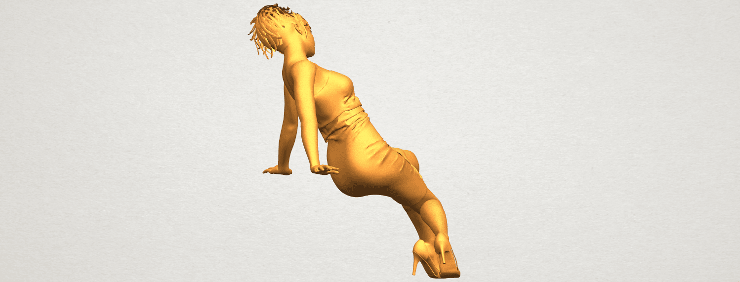 A08.png Download free STL file Naked Girl G10 • 3D printable template, GeorgesNikkei