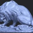 16_Lion_(iii)_with_snake_60mm-B02.png Télécharger fichier STL gratuit Lion 03 - avec serpent • Modèle imprimable en 3D, GeorgesNikkei
