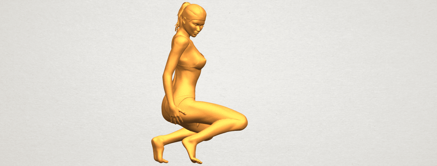 07.png Download free STL file Naked Girl D04 • 3D printable template, GeorgesNikkei