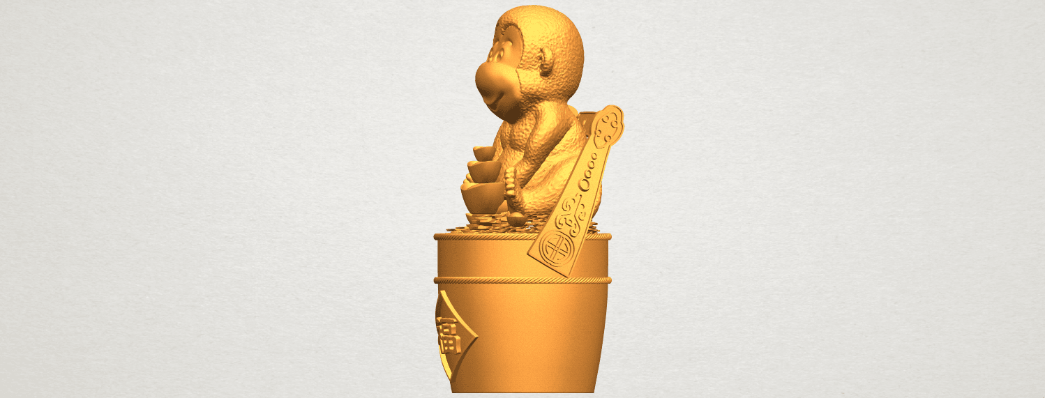 A03.png Download free STL file Monkey A05 • 3D print design, GeorgesNikkei