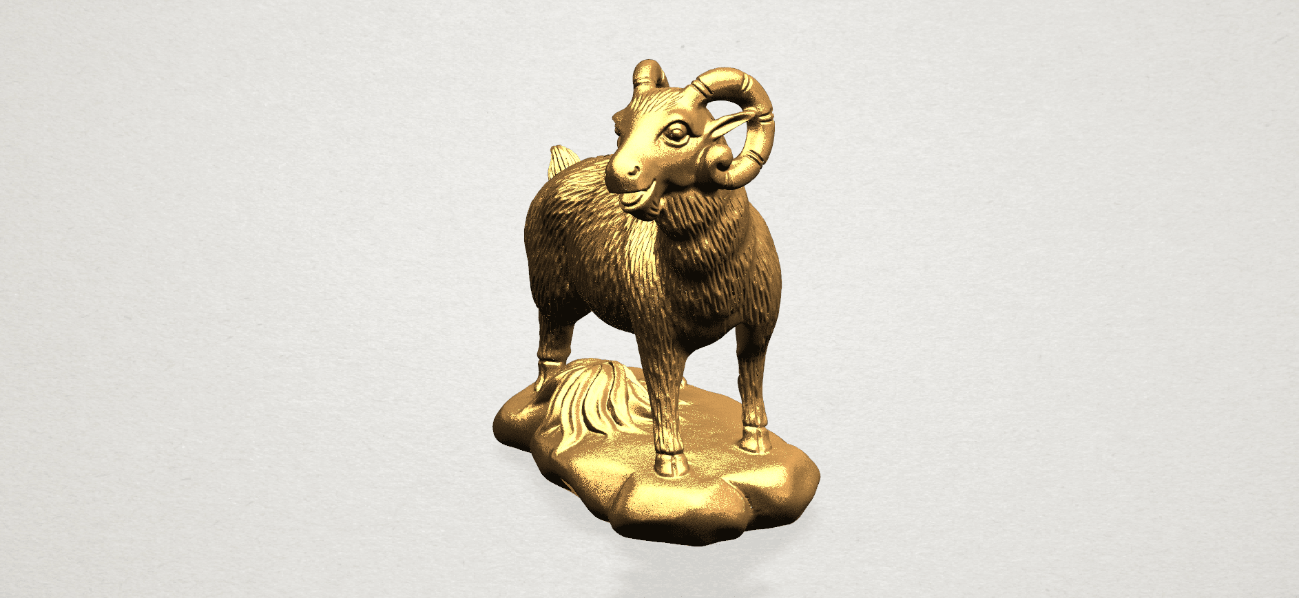 Chinese Horoscope08-B03.png Download free STL file Chinese Horoscope 08 Goat • Model to 3D print, GeorgesNikkei